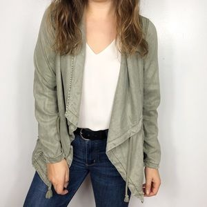 MAX JEANS | Army Green Drape Front Utility Jacket